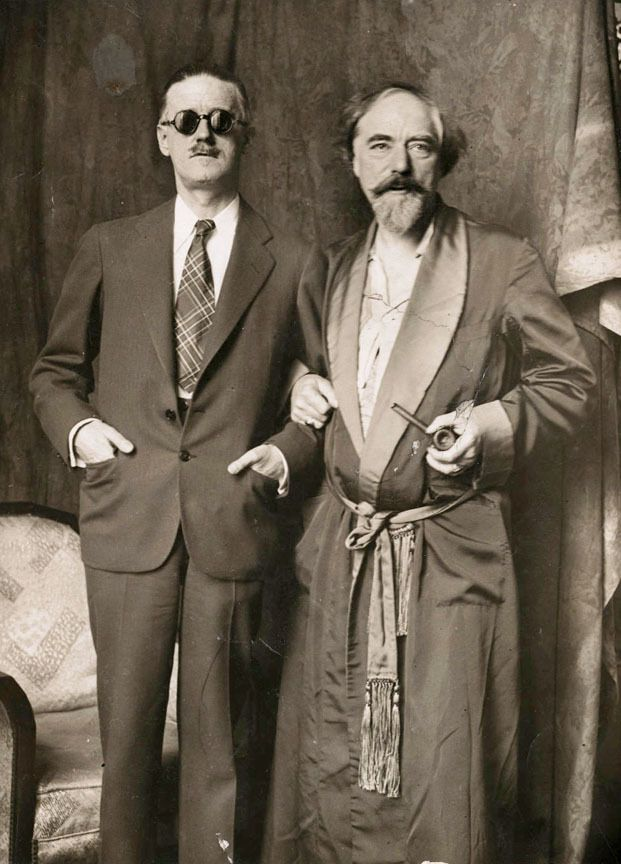 James Joyce with Augustus John, London, 1925-1930