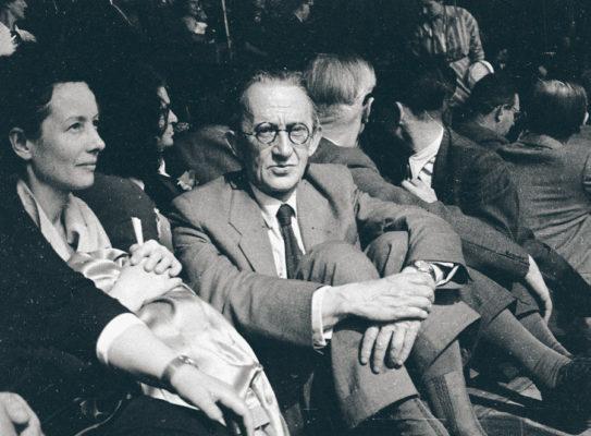 Georges Lukacs (1885-1971), écrivain et philosophe hongrois. Congrès de la Paix. Paris, 24 avril 1949. © Roger Berson / Roger-Viollet